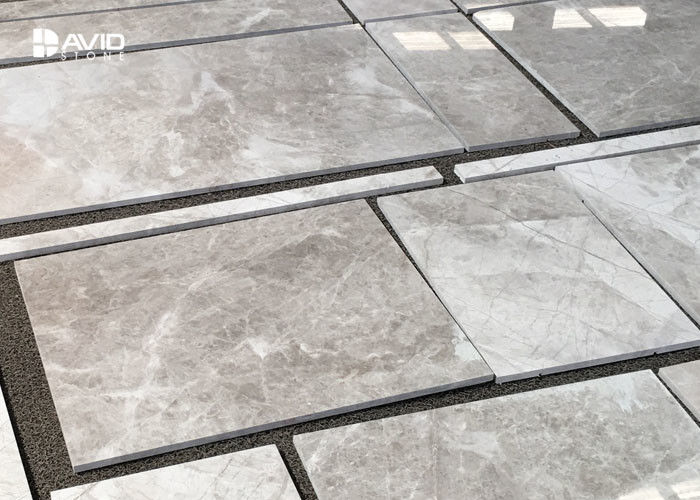 Gray Marble Stone Floor Tiles , Marble Decorative Wall Tiles 10/18/20mm Thickness
